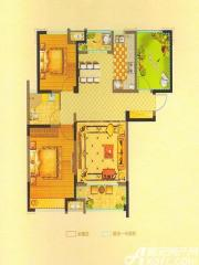 恒生阳光城6#D3户型3室2厅102.57㎡