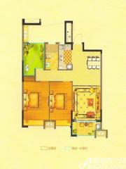 恒生阳光城6#D2户型3室2厅91.24㎡