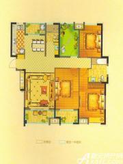 恒生阳光城6#D1户型3室2厅133.96㎡