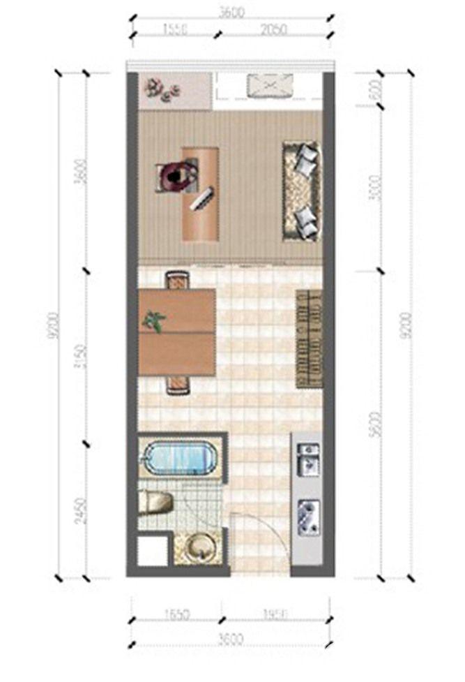 大华锦绣国际B5办公户型1室1厅66平米