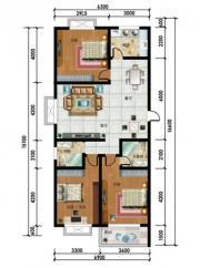 东湖碧水湾48号A户型3室2厅133.8㎡