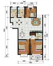 东湖碧水湾48号C户型3室2厅137.9㎡