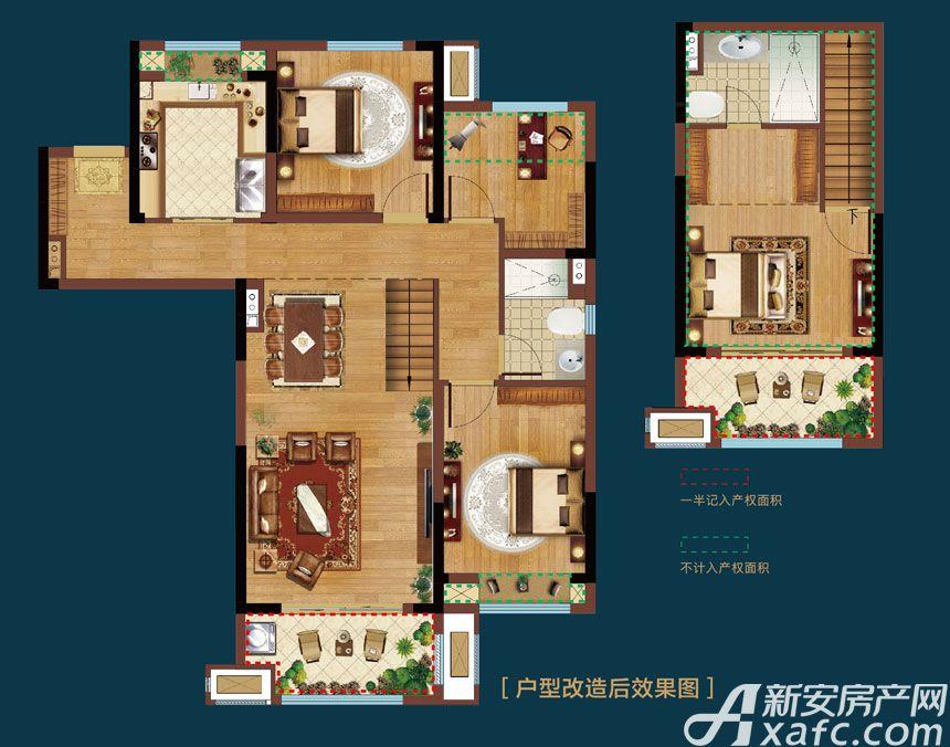 皖新翡翠庄园Y2户型4室2厅110平米