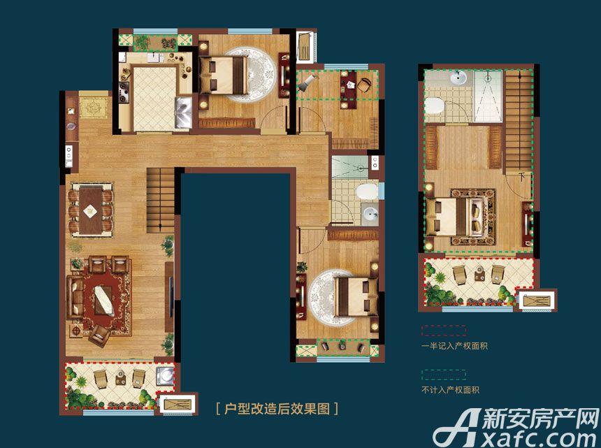 皖新翡翠庄园Y1户型4室2厅110平米