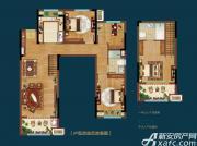 皖新翡翠庄园Y1户型4室2厅110㎡