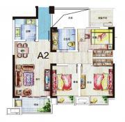 尚泽琪瑞公馆A2户型3室2厅88.27㎡