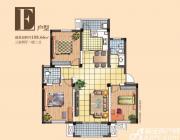 宇业天逸华府E2户型3室2厅108.66㎡