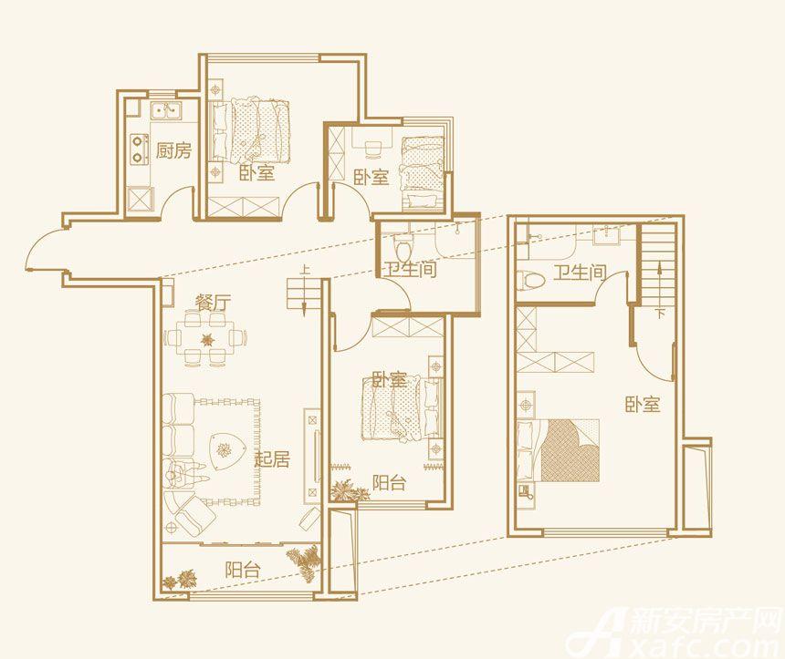 文德公园里G7户型4室2厅95平米
