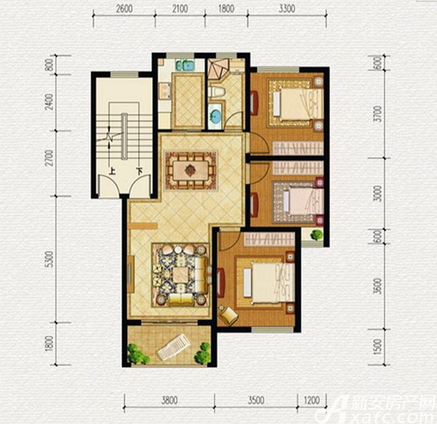 伟星蓝山B户型3室2厅99平米