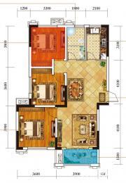 麒麟公馆K1户型3室2厅103㎡