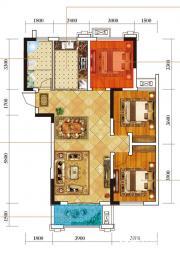 麒麟公馆N1户型3室2厅110㎡