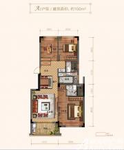 玉兰轩A23室2厅100㎡