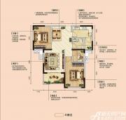 亿景海棠湾B1-1户型3室2厅91.47㎡