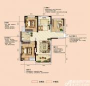 亿景海棠湾B-3户型3室2厅95.75㎡
