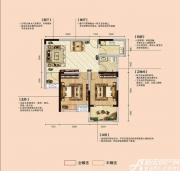 亿景海棠湾A-1户型2室2厅81.3㎡