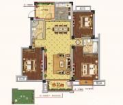 朗诗熙华府B1户型 3室2厅1卫3室2厅119㎡