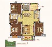 朗诗熙华府A1户型 3室2厅2卫3室2厅130㎡