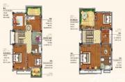 朗诗熙华府214户型二层三层7室2厅214㎡