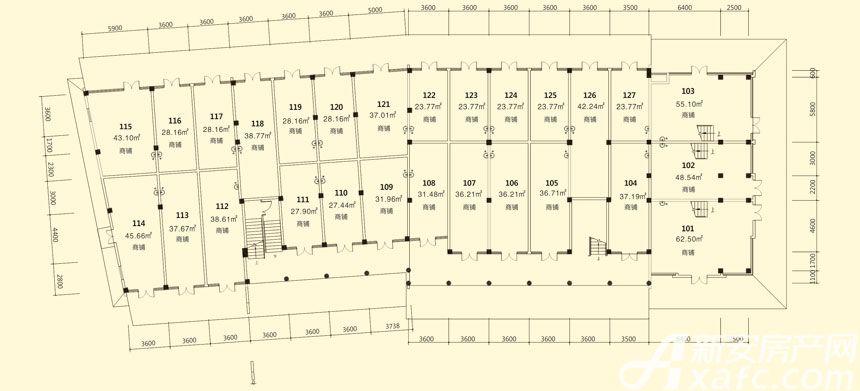 庐江中心城10#楼一层平面图