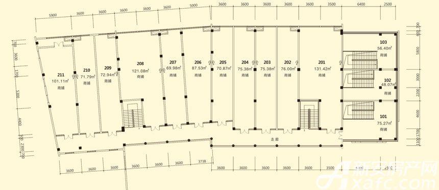 庐江中心城10#楼2层平面图