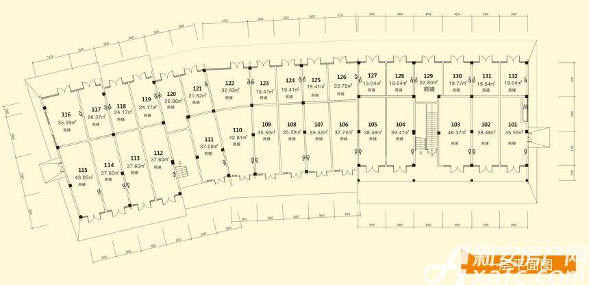 庐江中心城11#楼一层平面图