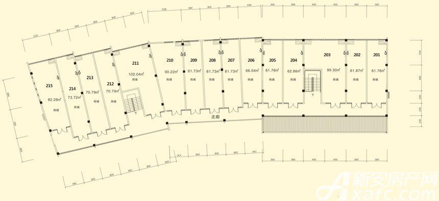 庐江中心城11#楼二层平面图