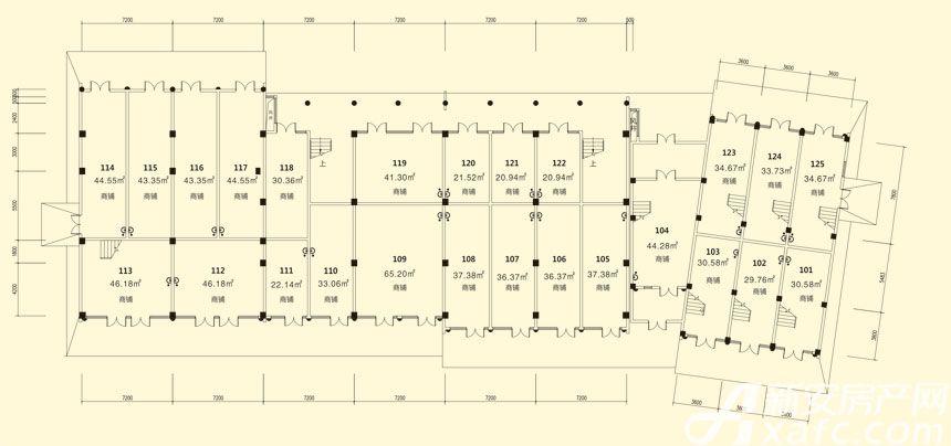 庐江中心城13#楼一层平面图