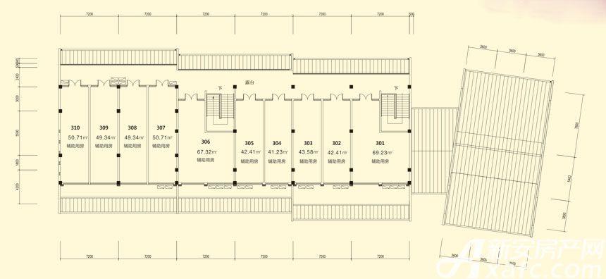庐江中心城13#楼三层平面图