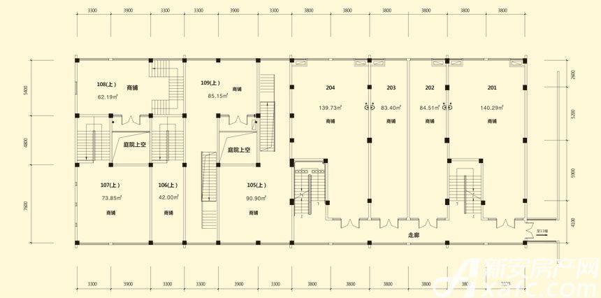 庐江中心城12#楼二层平面图