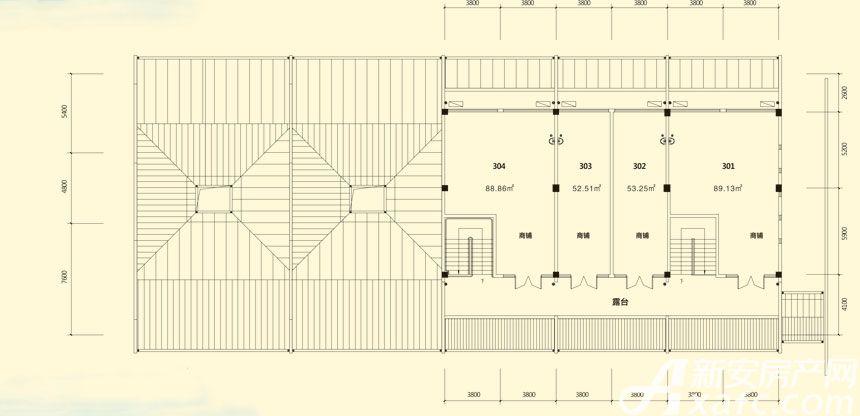 庐江中心城12#楼三层平面图