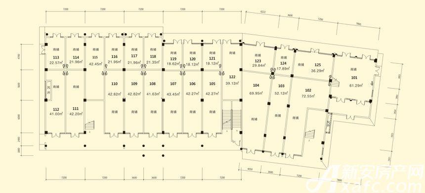 庐江中心城14#楼一层平面图