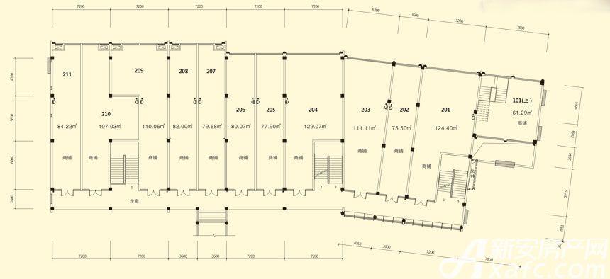 庐江中心城14#楼二层平面图