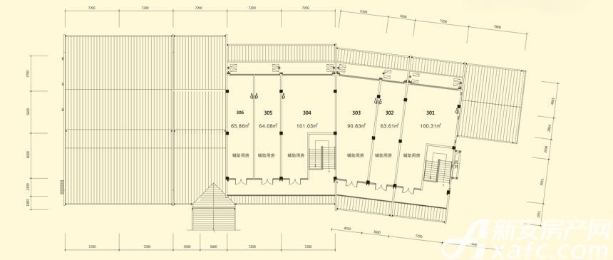 庐江中心城14#楼三层平面图