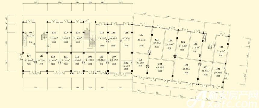 庐江中心城15#楼一层平面图