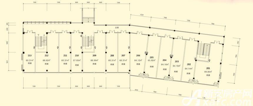 庐江中心城15#楼二层平面图