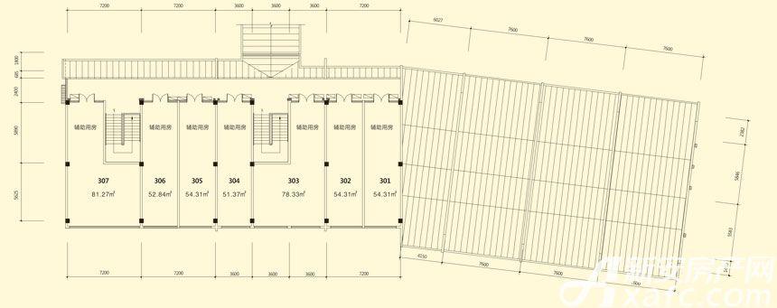 庐江中心城15#楼三层平面图