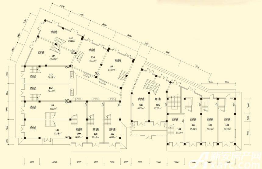 庐江中心城7#楼一层平面图