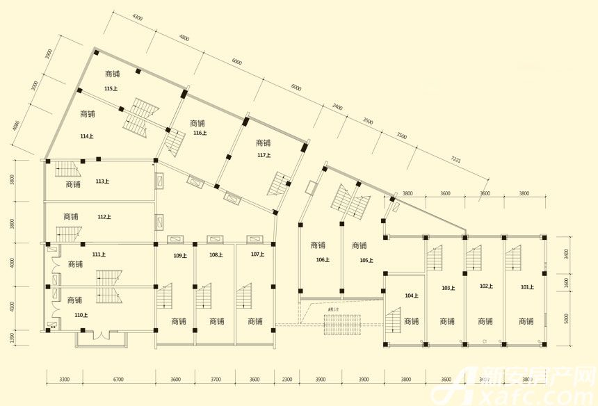 庐江中心城7#楼二层平面图