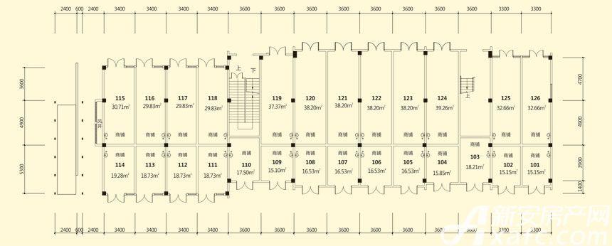 庐江中心城16#楼一层平面图