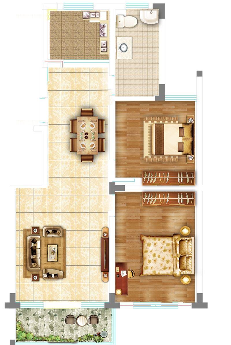 砀城一品95㎡3室1厅95平米