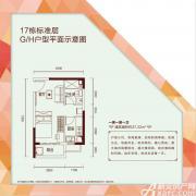 恒大绿洲G/H户型1室1厅37.22㎡