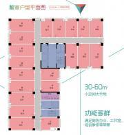 绿地新都会醒客空间平面图1室1厅30㎡