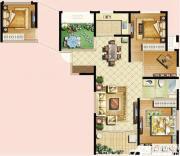 恒生秀山郡A户型高层3室2厅118㎡