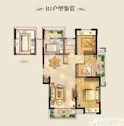 明天城市广场B1户型 3室2厅1卫3室2厅106.32㎡
