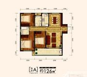 金大地时代公馆高层A户型3室2厅126㎡