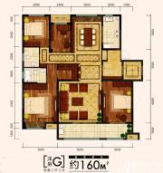 金大地时代公馆洋房G户型4室2厅160㎡