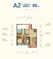 宝能城B地块A22室2厅88㎡