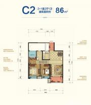 宝能城B地块C22室2厅86㎡