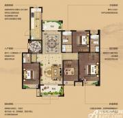 湖山壹品花园洋房D2户型4室2厅146.81㎡