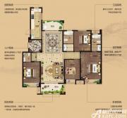 湖山壹品花园洋房D3户型4室2厅151.89㎡